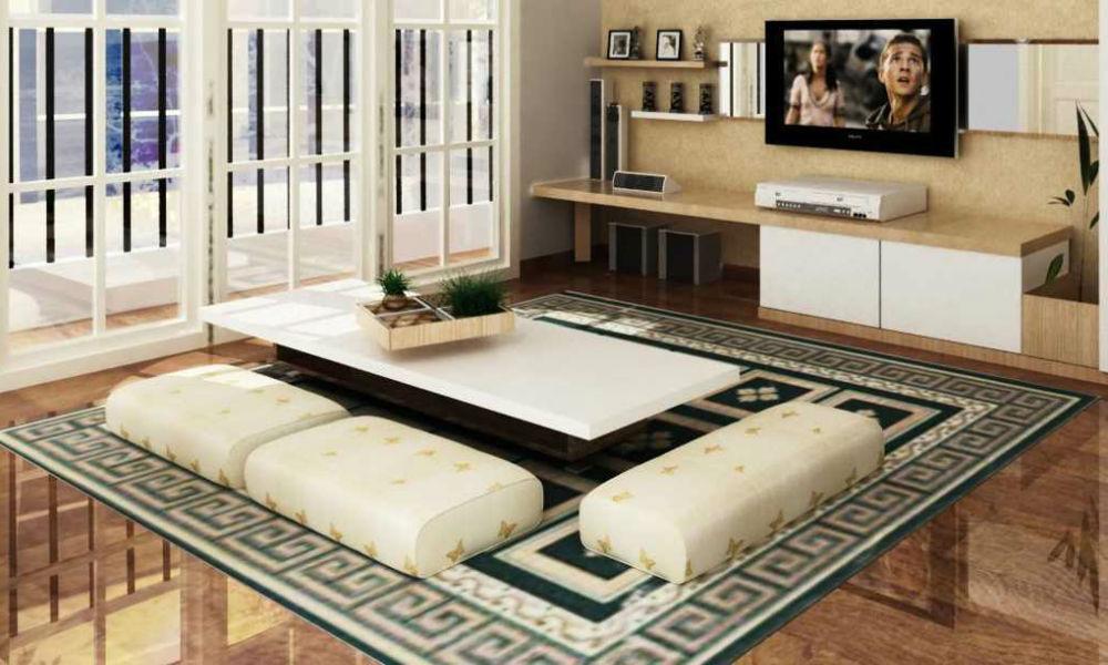 meja ruang tamu ala jepang